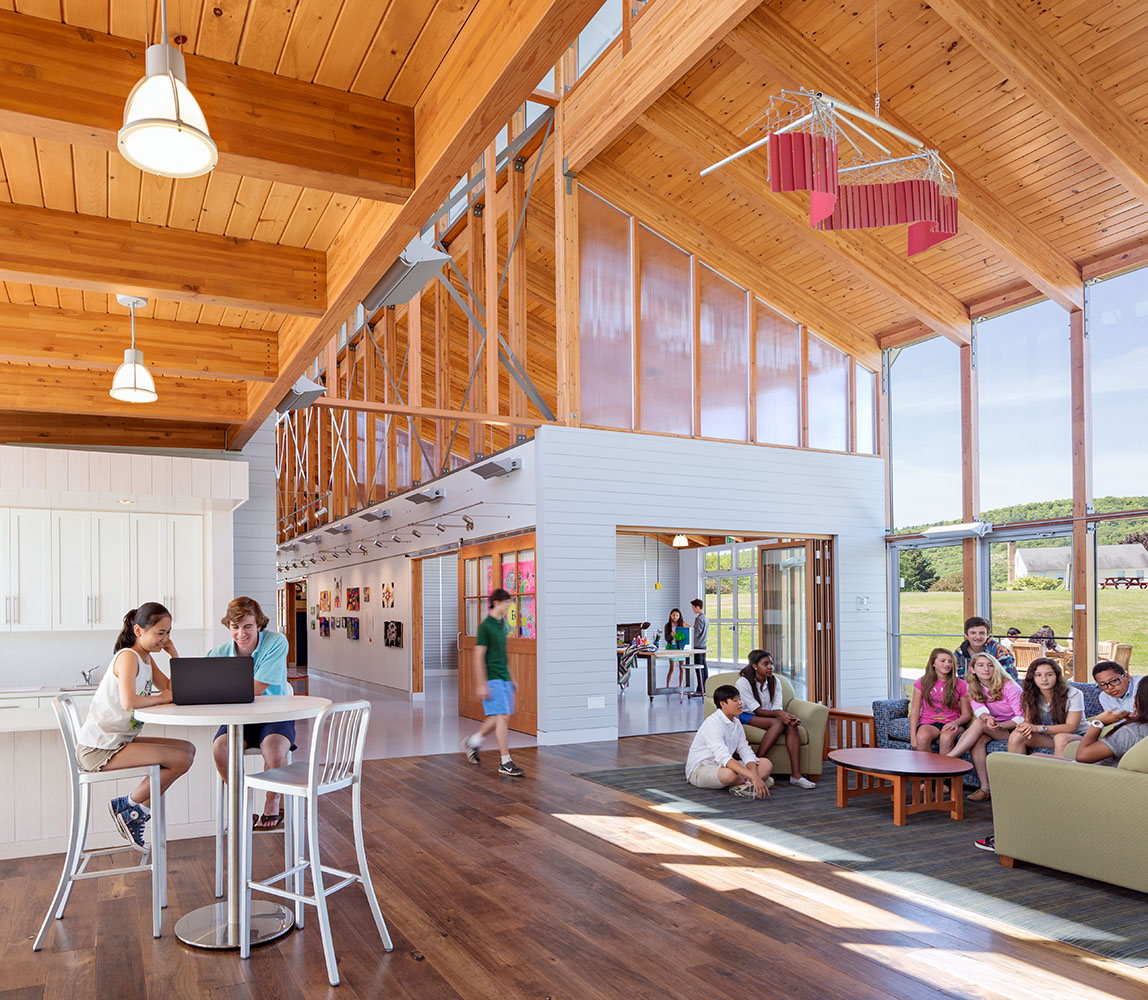 Indian Interior Design: Arts & Innovation Center, Indian Mountain School